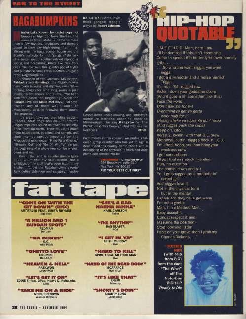 November 1994 fat tape