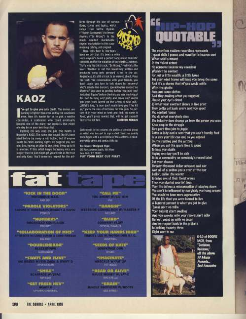 Fat tape April 1997
